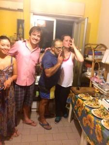 pasta party kitchen