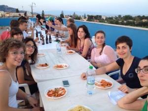 terrace pasta party